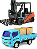 Click N' Play Friction Powered, Pullback Forklift and Truck Play Set.
