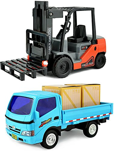 Click N' Play Forklift & Truck Play Set Vehicle