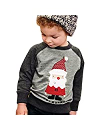 Cute Boy Santa Claus Winter Tops Outwear Pullover Sweatshirt Warm Coat Clothes