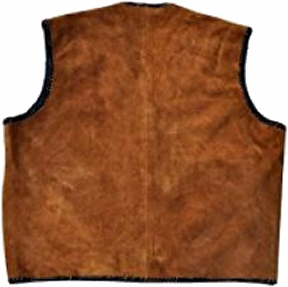 SleekHides Mens Fashion Suede Leather Stylish Vest