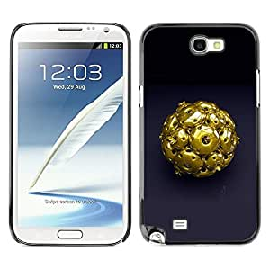 LECELL -- Funda protectora / Cubierta / Piel For Samsung Galaxy Note 2 N7100 -- Abstract Gold --
