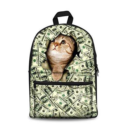 Unisex Fashion Casual School Travel Laptop Backpack Rucksack Daypack Tablet Bags (Orange) - 5