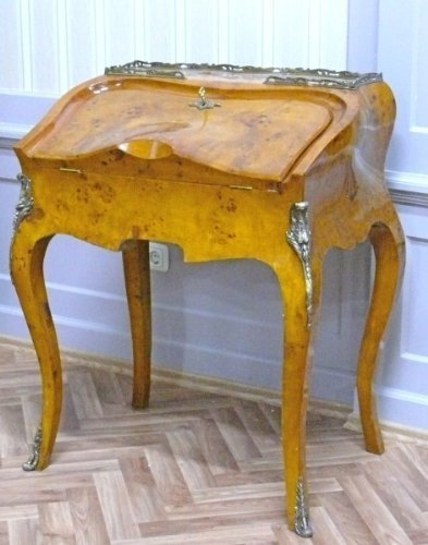 Barock Sekretär Antik Stil Bureau Plat LouisXV MoAl0137