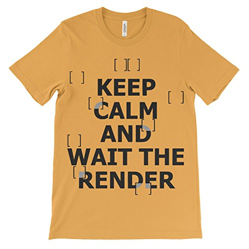 Tee for Architetto T-Shirt Keep Calm Wait The Render Architetto Tee Donna Shirt Gold