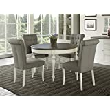 Amazoncom Oval Table Chair Sets Kitchen Dining Room - Oval farmhouse table and chairs