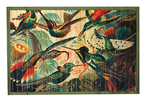 [Kitchen Rugs Area Rugs 2 ft by 3 ft Bamboo Animals Exotic Birds for Indoor or Outdoor Patio Rug] (Rectangular Bamboo Area Rugs)