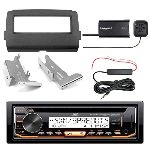 JVC KDR99MBS Marine CD Bluetooth Radio, SiriusXM Tuner Kit, Enrock Harley Dash Kit, Hide Away Antenna Booster Kit (Select 2014-Up Harley Davidson)