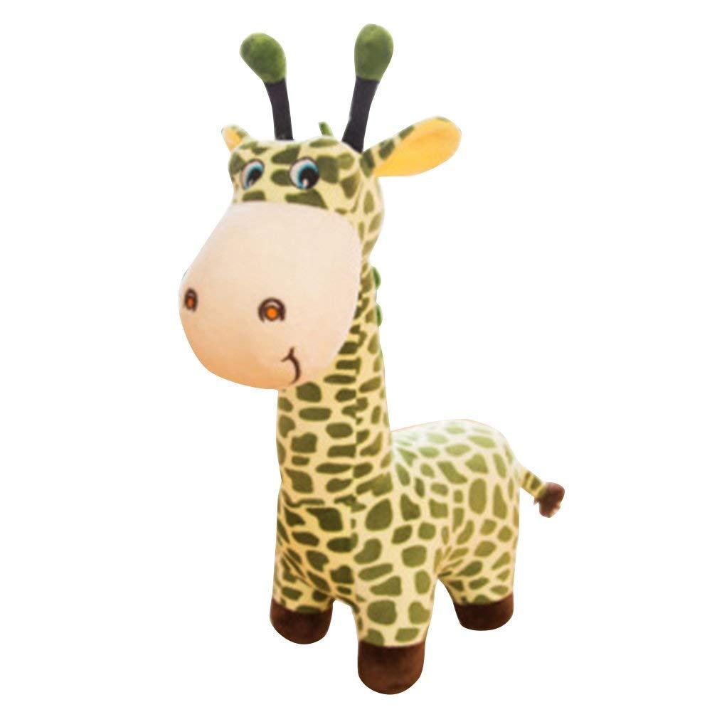 Chenyaohaiyu Peluche Jirafa Rellenos Mejor Regalo para cumpleaños muñecas niños (Color : Green, Size : 65cm(1.05KG))