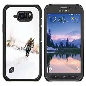 Qstar Arte & diseño plástico duro Fundas Cover Cubre Hard Case Cover para Samsung Galaxy S6Active Active G890A (Asesinos)