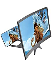 "12""3D curvada tela de telefone lupa HD amplificador projetor ampliação"