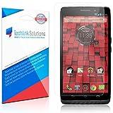 TechLink Solutions UltraClear (6-Pack) - Motorola Droid MAXX 2 Screen Protector {2015} / Premium HD Crystal Clear Shield /Anti-Bubble & Anti-Fingerprint PET Film with Lifetime Warranty