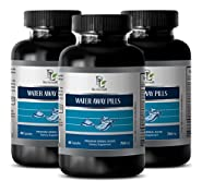 antioxidant compound - WATER AWAY PILLS 700MG - NATURAL DIURETIC - immune system multivitamin - 3 Bottles (180 Capsules)