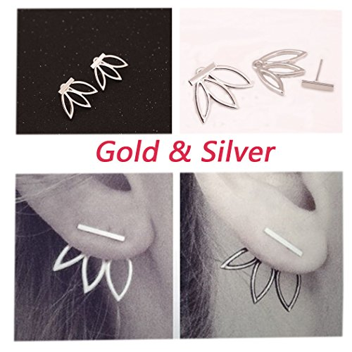 SUNSCSC Hollow Lotus Flower Earrings