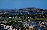 The San Diego-Coronado Bridge San Diego, California Original Vintage Postcard