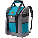 Yitour Insulated Hiking Backpack Cooler Bag - Waterproof Large Camping Back Pack for Men Women Travel Picnic,Leak-Proof Cooler Tote Bag with Collapsible Strap for Beer Wine Beach Camping
