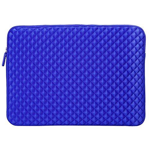 Evecase Diamond Foam Splash & Shock Resistant Neoprene Sleeve Notebook Case Bag for Dell Inspiron 15.6inch Laptop - Blue