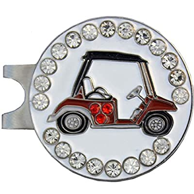 Giggle Golf Bling Cart Golf Ball Marker With A Standard Hat Clip