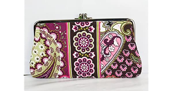 Amazon.com: Vera Bradley Embrague cartera, Púrpura, talla ...