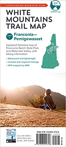 Pemigewasset Franconia AMC White Mountains Trail Map 2