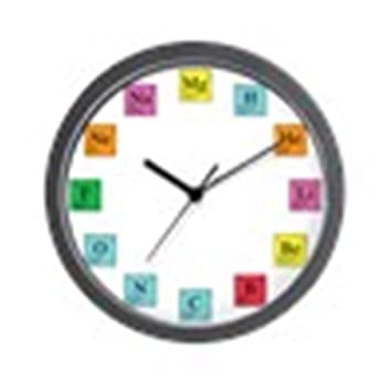Amazon cafepress periodic table clock unique decorative 10 cafepress periodic table clock unique decorative 10quot wall clock urtaz
