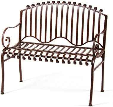 Deer Park Ironworks 020034 Deer Park Be116 Solera Bench, Natural Patina, 38 L X 21 D X 36 H