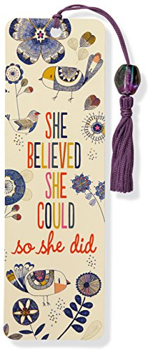 (She Believed She Could Beaded Bookmark )