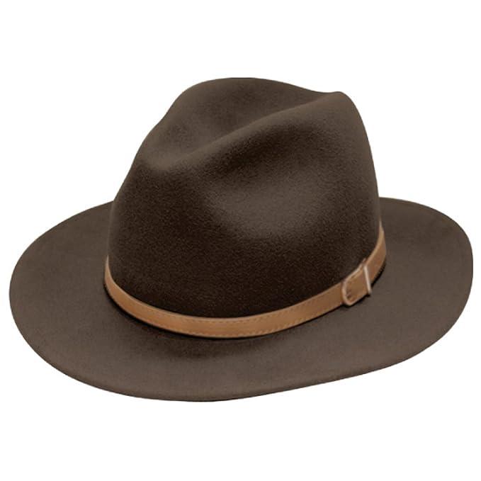 4998ec9dd4c91 City Hunter Pmw91 Wide Brim Wool Felt Fedora Hat -3 Colors (Small-Medium