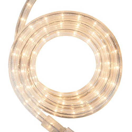 Incandescent Rope Light Kit – Light Rope Outdoor, Christmas Light Rope Light Color – Non LED Rope Light, Includes Rope Light Clips and Power Cord, 120V, ½ Inch, 2-Wire (12, Clear)