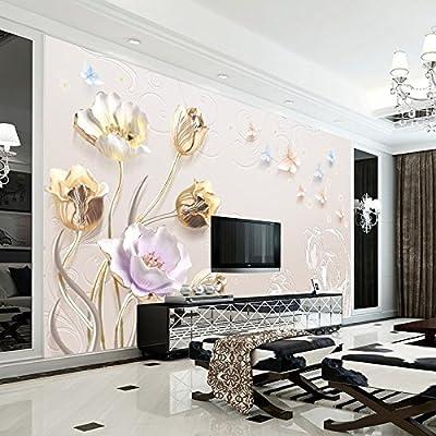 XLi-You 3D European Relief Tv Wall A Large Mural Wallpaper