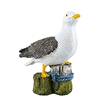 "Danmu 1pc Polyresin Dockside Seagull Statue Decoration 7.08"" H"