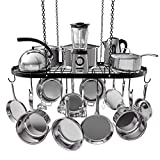 VDOMUS Pot Rack Ceiling Mount Cookware Rack Hanging Hanger...