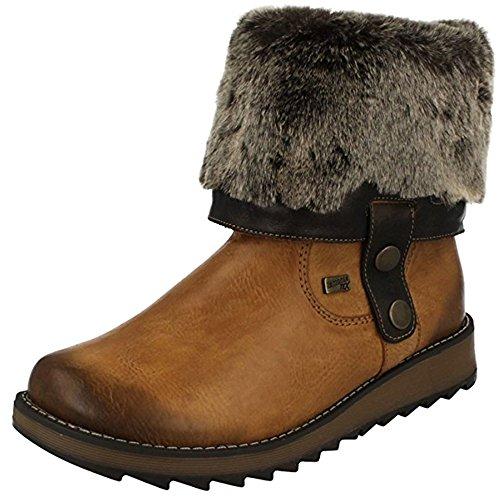 5 Tan Uk Heel Brown Mid Ankle Convertible 36 Us 3 Brown Rieker Women's Boot Eu 5xBz66