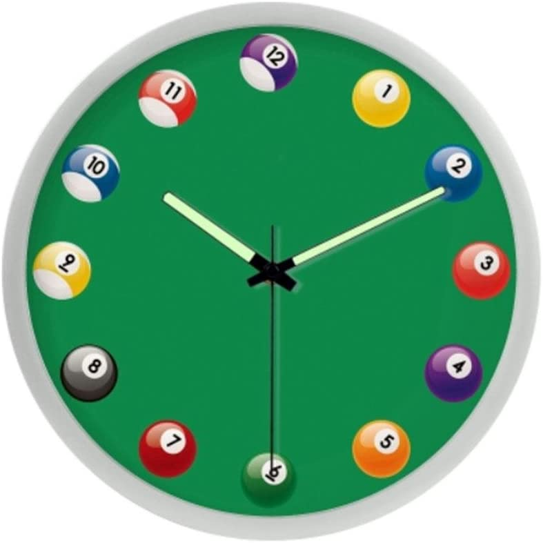 MOXIN Relojes de pared Reloj de billar personalizado Reloj ...