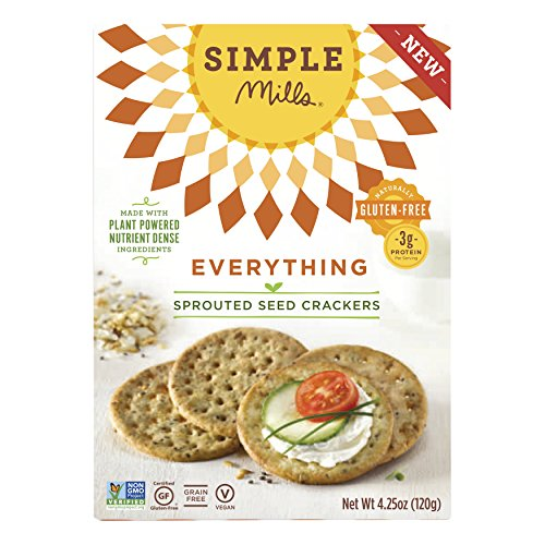 Emulsifier Gluten Free (Simple Mills Gluten-Free Sprouted Seed Crackers Everything, 4.25 oz)