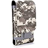 YouNiBeiYi Tactical MOLLE Cellphone Holster, Universal Army Mobile Phone Belt Pouch EDC Security Pack Carry Accessory Kit Blowout Pouch Belt Loops Waist Bag Case For iPhone X Samsung S9 (ACU, S)