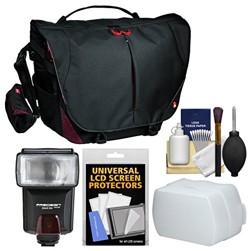 Manfrotto Pro Light Bumblebee M-30 DSLR Camera Messenger Bag with Flash + Diffuser + Kit