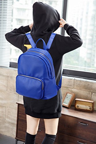 Women's Girls Backpack Nice Holiday For Handbags Leather Blue Bag Quality Cw186 Bags School Leahward Rucksack Faux A4 dgnxwYSIqS