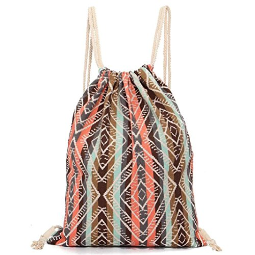 C Retro mochila mochila de Mochila impresión geométrica de mochila Internet Afw6qS5xqz