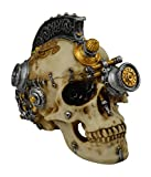 KW Collectible Gift Co.Skull Steampunk Goggles GearHead Gear Skeleton Decorative Figurine Halloween Statue Sculpture 4 Variations Top Hat Headphones Machine Gun Punk Rock (Punk)