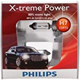 Philips H7 X-treme Power Vision + 100% Replacement Headlight, (Pack of 2)