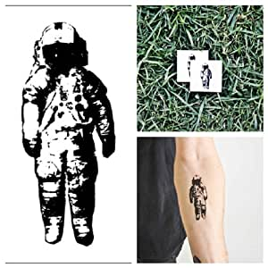 Tattify astronaut temporary tattoo spaceman for Fake tattoos amazon