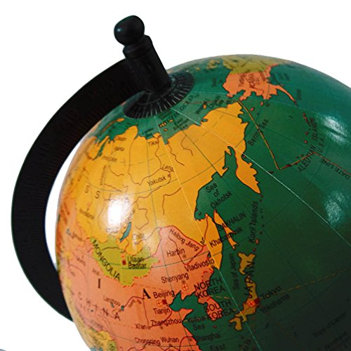 Handcrafted world map globe 6 plastic ball 95 tall standing green handcrafted world map globe 6 plastic ball 95 tall standing green home dcor general knowledge office table topper gift item price tracking price gumiabroncs