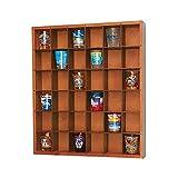 Wood Shot Glass Wall Curio Display Case - Natural