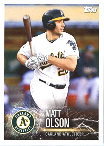 2019 Topps MLB Stickers Baseball #78 Matt Olson/Jose Abreu Oakland Athletics/Chicago White Sox Trading Card Sized Album Sticker with Collectible Card Back