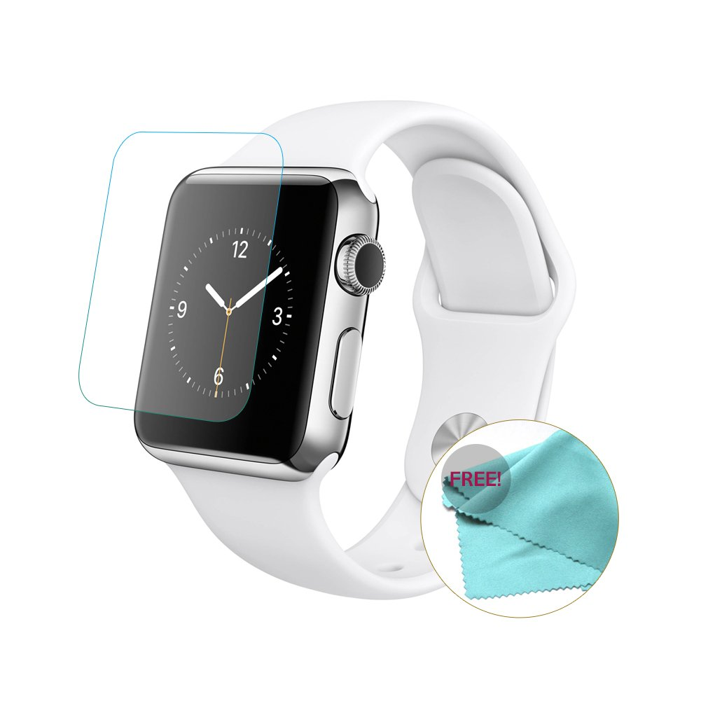 EXINOZ Apple Watch Screen Protector I Protection with 1-Year Replacement Warranty I Get the Best for Your Apple Smart Watch (38mm 2 Pack) by EXINOZ (Image #4)