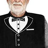 Classy Pal | Adult Bib for Men with Embroidered Design. Waterproof, Reusable & Washable (Tuxedo)
