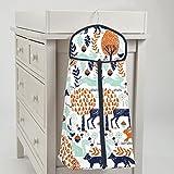 Carousel Designs Navy and Orange Woodland Diaper Stacker