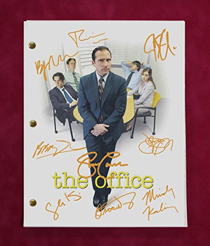 The Office TV Script w/Reproduction Signatures Fischer, Krasinski, Carell C3