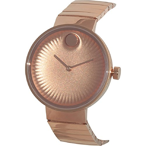 Movado Edge Rose Gold Toned Aluminum Dial Quartz Womens Watch 3680013