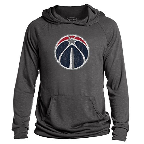 Majestic Athletic NBA Washington Wizards Men's Premium Hacci Slub Pullover Hoodie, Medium, Granite - Majestic Athletic Mens Pullover